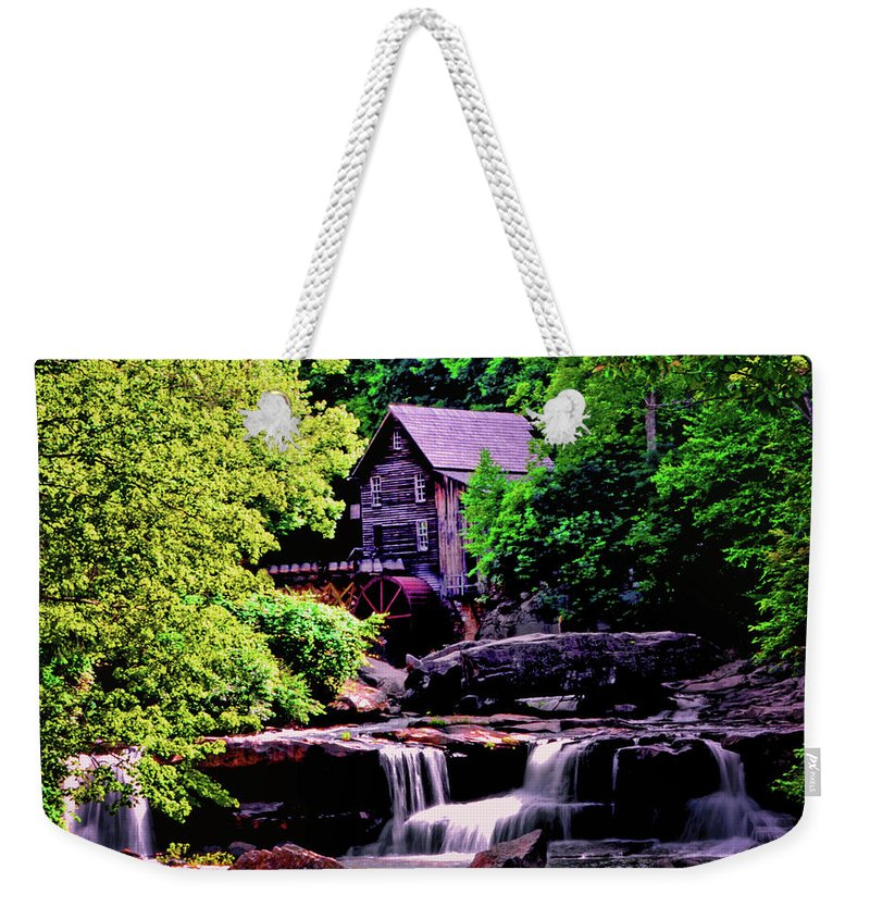 Glade Creek Grist Mill Weekender Tote Bag featuring the photograph Glade Creek Grist Mill 004 by George Bostian
