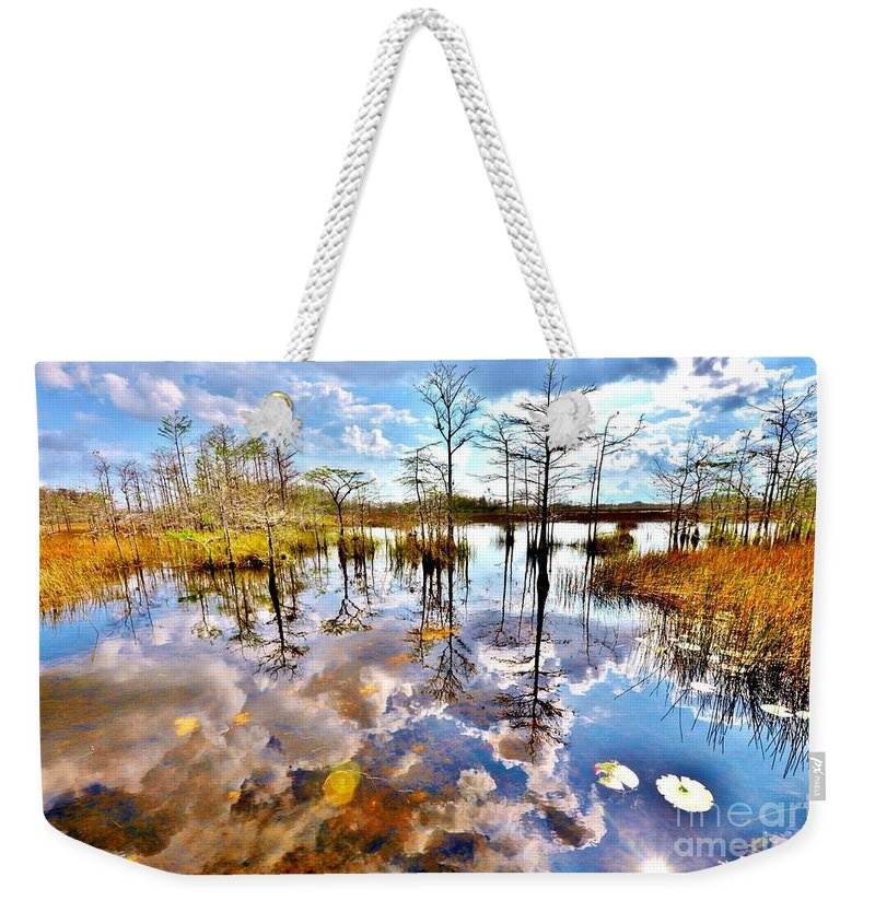 Glades Reflective Weekender Tote Bag featuring the photograph Glades Reflective 1 by Lisa Renee Ludlum