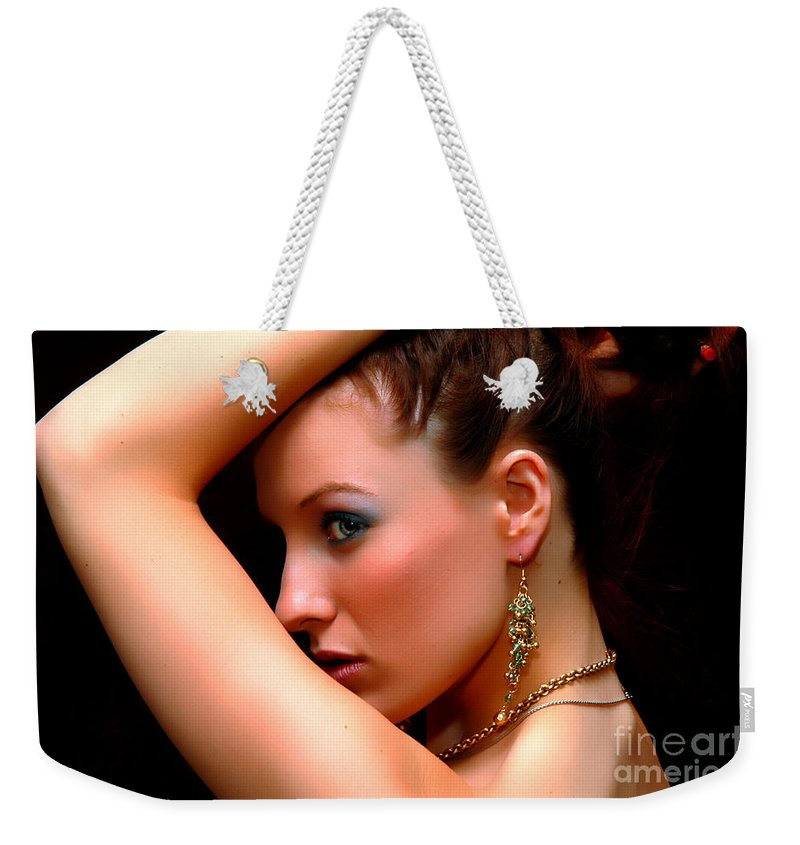 Clay Weekender Tote Bag featuring the photograph Glam Girl by Clayton Bruster