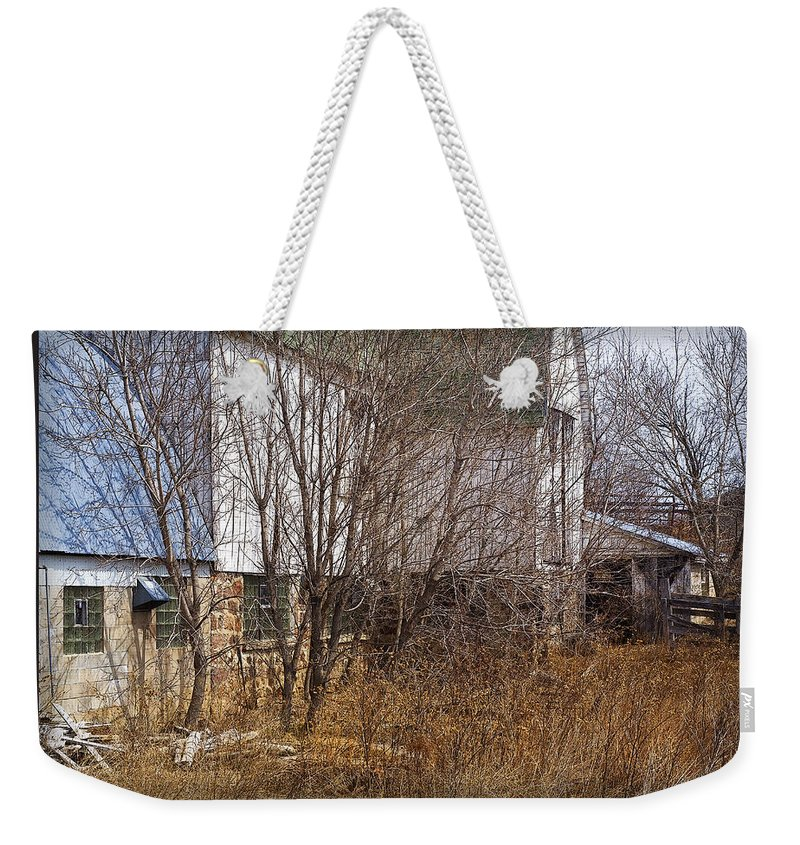 Barn Weekender Tote Bag featuring the photograph Glass Block by Tim Nyberg