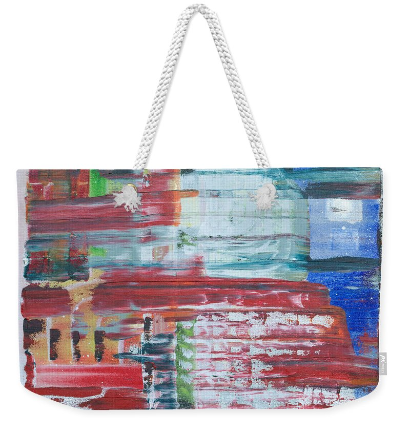 Impressionism Weekender Tote Bag featuring the painting In A New York Minute by J R Seymour