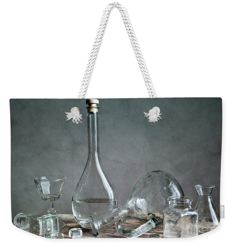 Glass Weekender Tote Bag featuring the photograph Glass by Nailia Schwarz