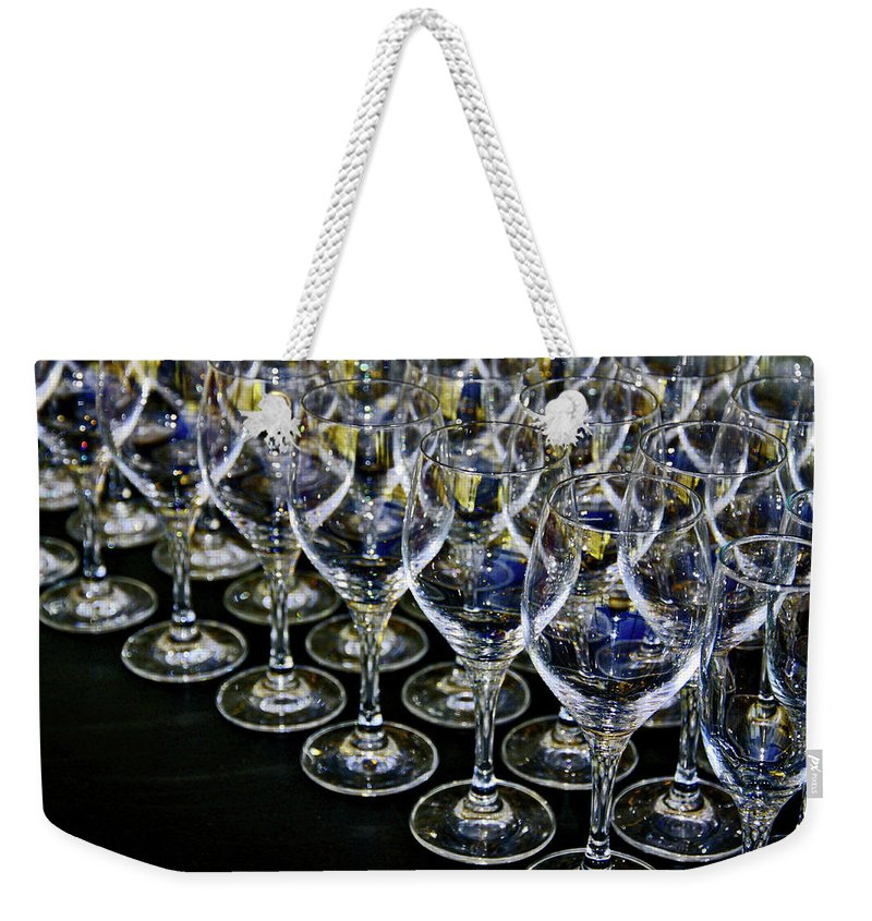 Flute Weekender Tote Bag featuring the photograph Glass Soldiers by Stephen Mitchell