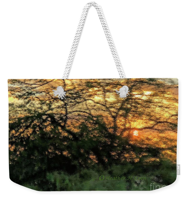 Sunset Weekender Tote Bag featuring the photograph Glass Sunset Hawaii by Heather Coen