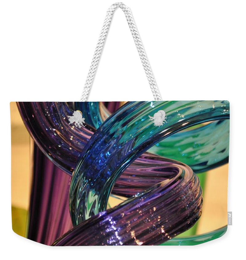 Glass Weekender Tote Bag featuring the photograph Glassworks 2 by Marty Koch