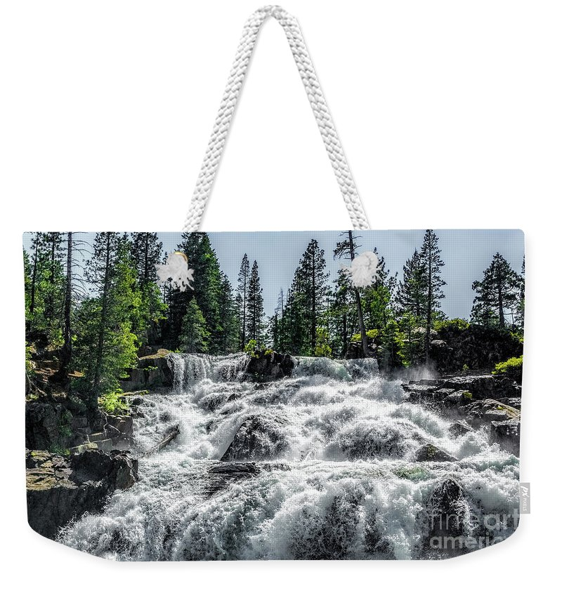 California Weekender Tote Bag featuring the photograph Glen Alpine Falls 7 by Joe Lach