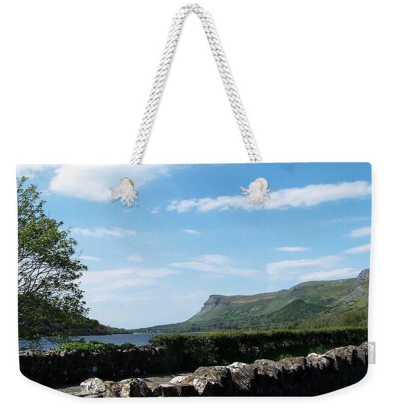 Irish Weekender Tote Bag featuring the photograph Glencar Lake With View Of Benbulben Ireland by Teresa Mucha