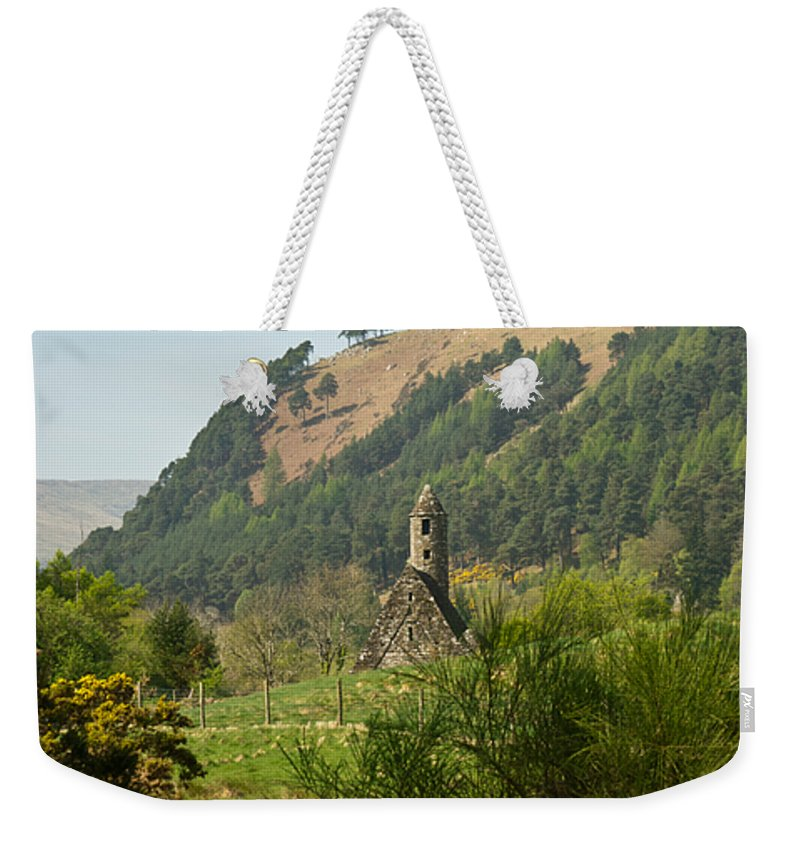 Round Weekender Tote Bag featuring the photograph Glendalaugh 13 by Douglas Barnett