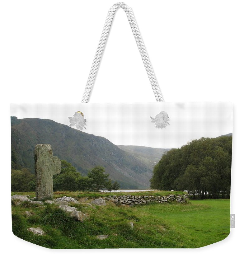 Glendalough Weekender Tote Bag featuring the photograph Glendalough by Kelly Mezzapelle
