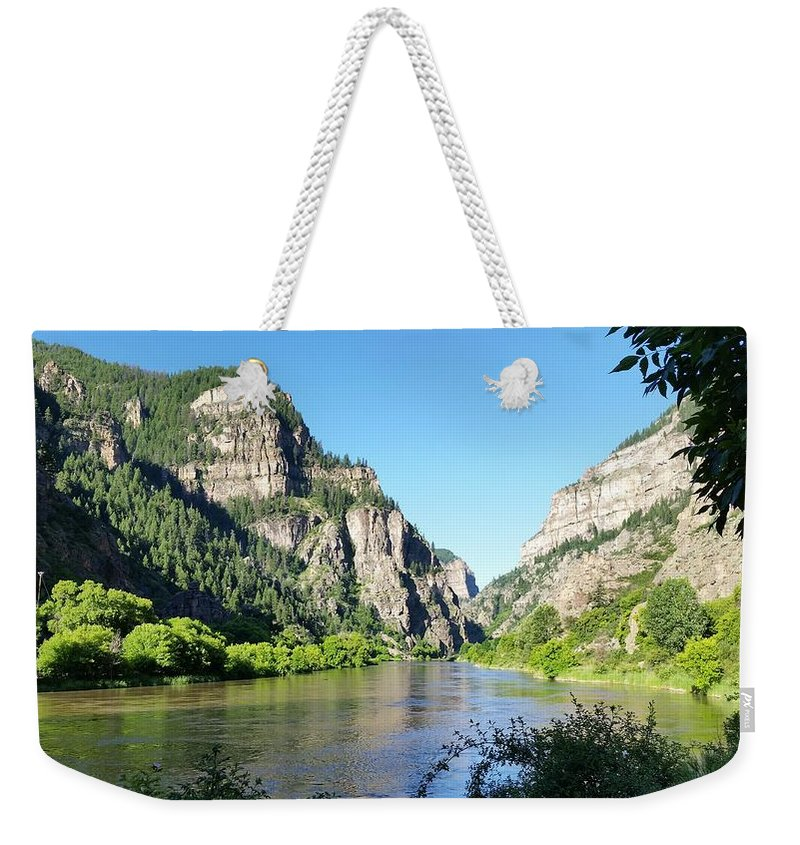Landscapes Weekender Tote Bag featuring the photograph Glenwood Cayon by Dennis Boyd