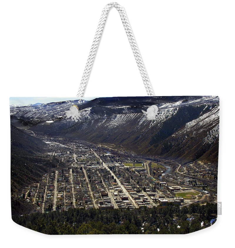City Weekender Tote Bag featuring the photograph Glenwood Springs Canyon by Marilyn Hunt