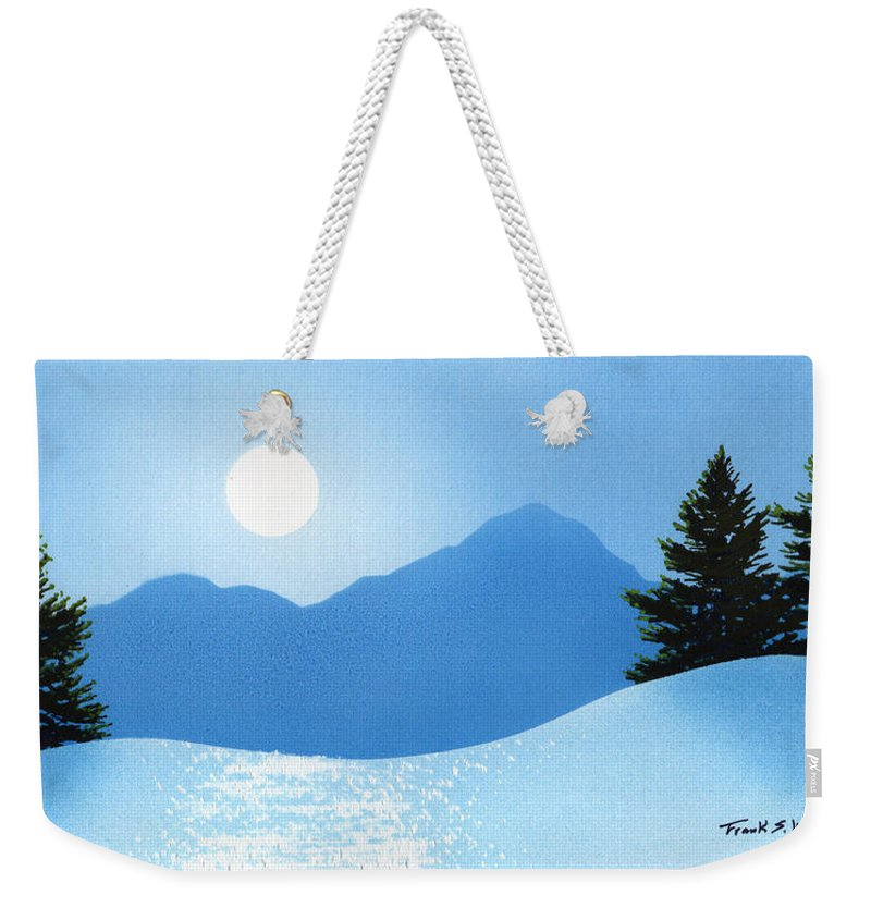 Glistening Snow Weekender Tote Bag featuring the painting Glistening Snow by Frank Wilson