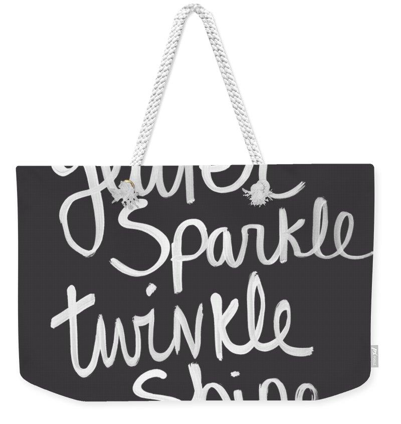 Sparkle Weekender Tote Bags
