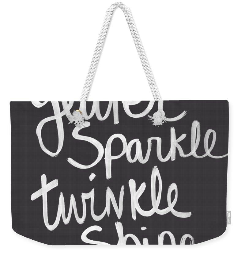 Glitter Weekender Tote Bag featuring the mixed media Glitter Sparkle Twinkle by Linda Woods