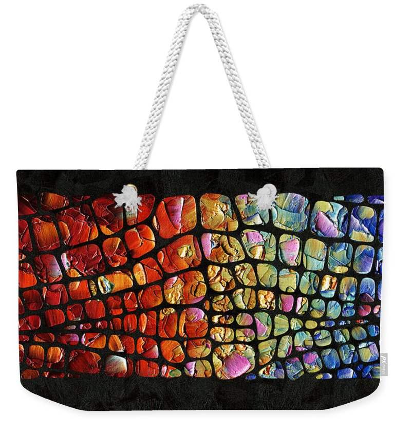 6ead37a002d Abstract Weekender Tote Bag featuring the painting Glitz And Glamour by  Susanna Shap