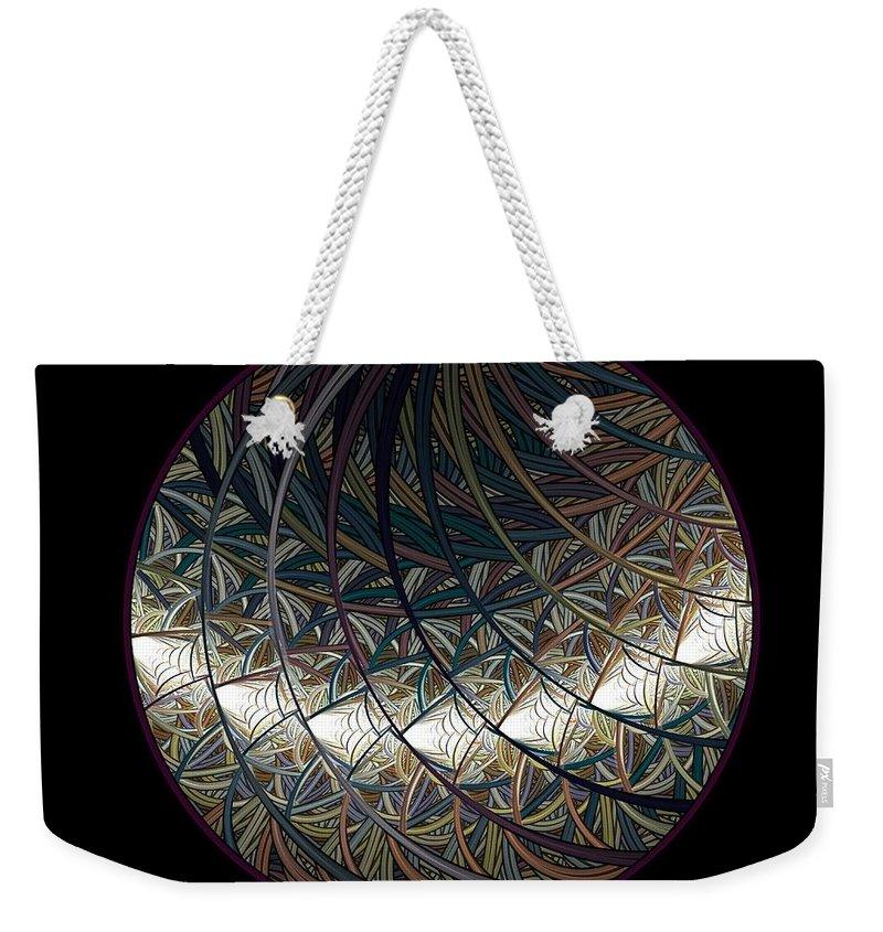 Fractal Weekender Tote Bag featuring the digital art Globulus by Elena Ivanova IvEA