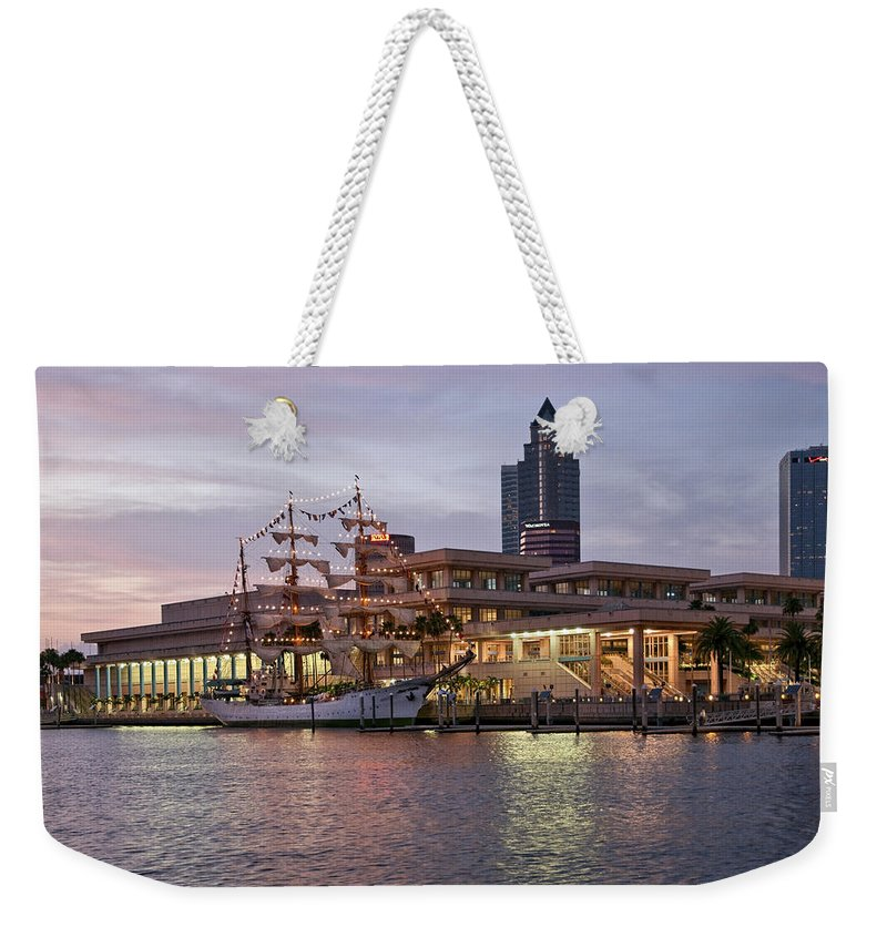 Arc Gloria Weekender Tote Bag featuring the photograph Gloria Visiting Tampa by Steven Sparks