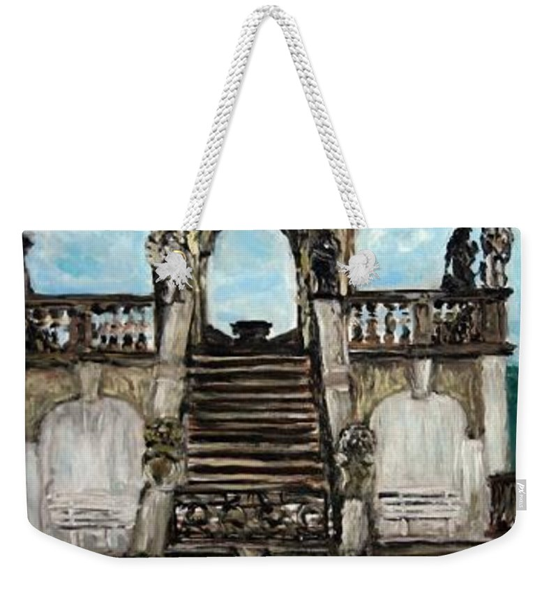 Landscape Weekender Tote Bag featuring the painting Gloriet by Pablo de Choros