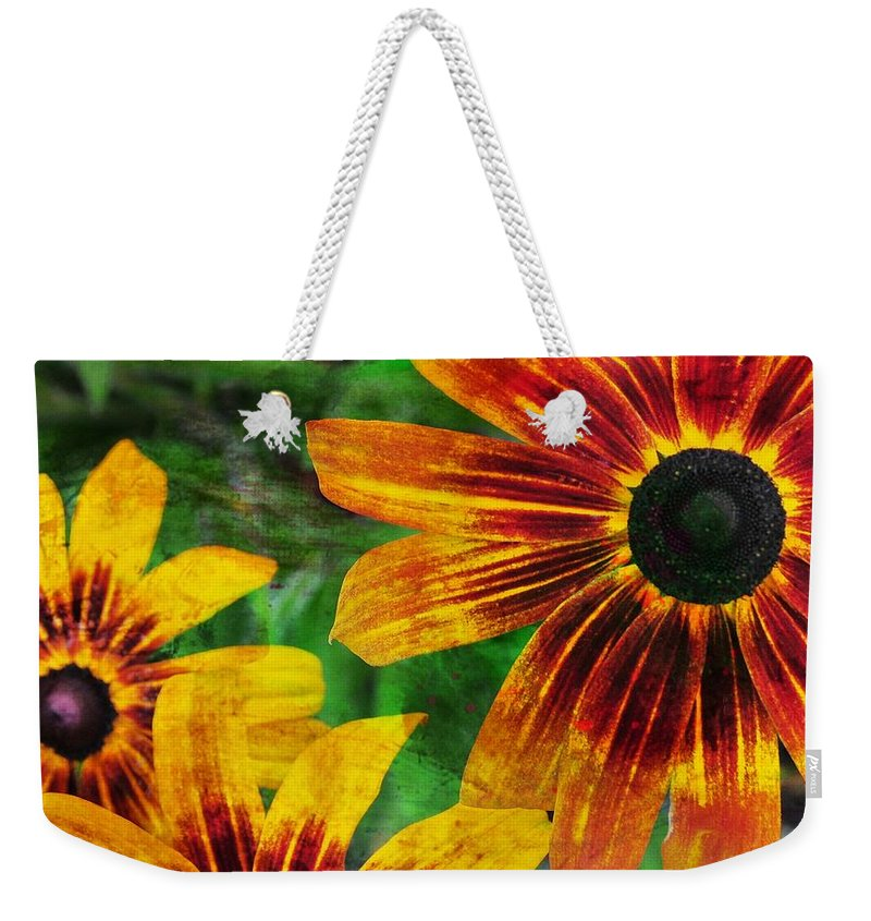 Flower Weekender Tote Bag featuring the photograph Gloriosa Daisy by JAMART Photography