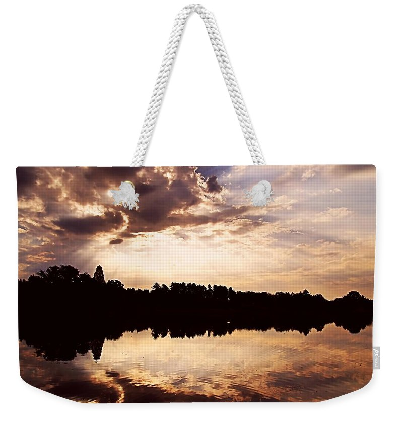 Sunrise Weekender Tote Bag featuring the photograph Glorious Moments by Gaby Swanson