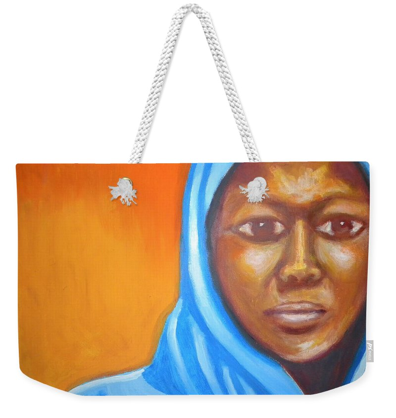 Woman Weekender Tote Bag featuring the painting Glory by Jan Gilmore