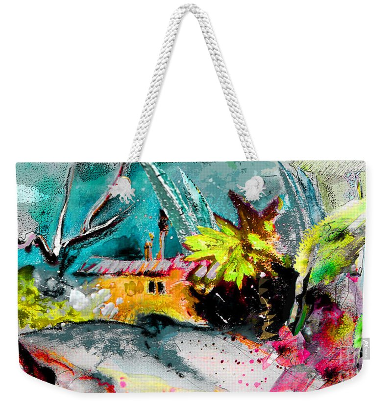 Pastel Painting Weekender Tote Bag featuring the painting Glory Of Nature by Miki De Goodaboom