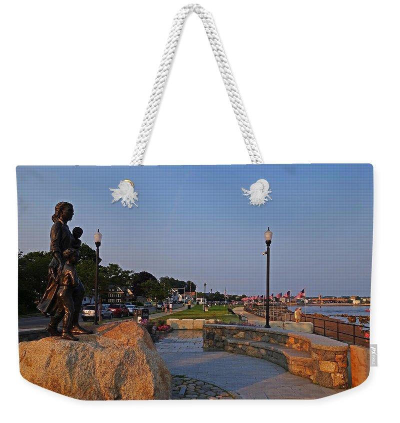 Gloucester Weekender Tote Bag featuring the photograph Gloucester Waterfront Gloucester Harbor by Toby McGuire