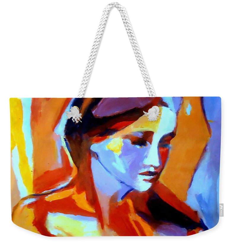 Art Weekender Tote Bag featuring the painting Glow From Within by Helena Wierzbicki