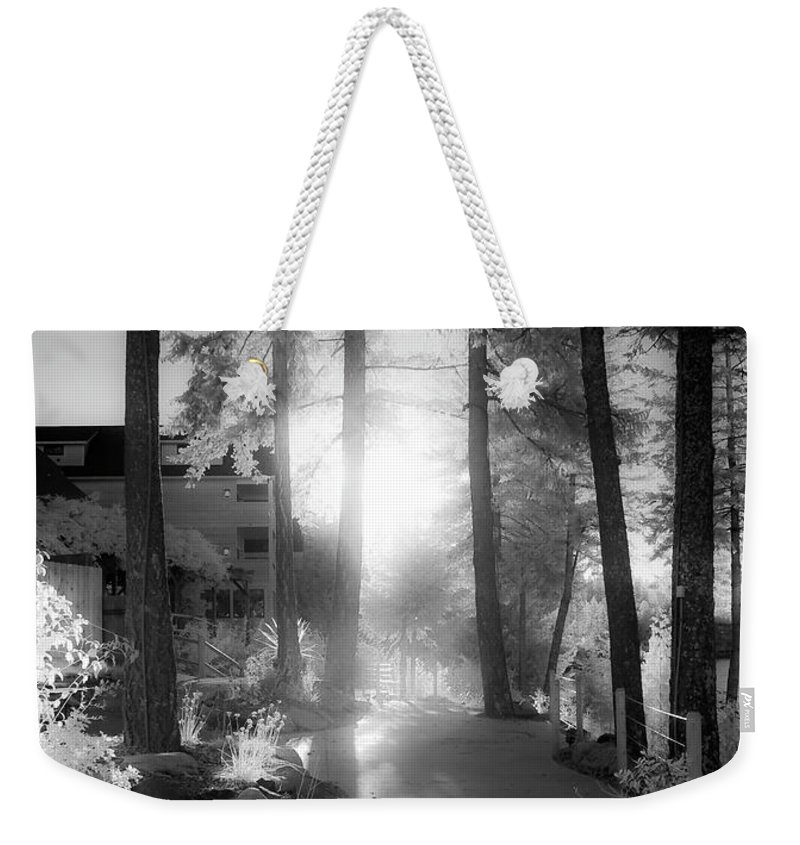 Scenic Weekender Tote Bag featuring the photograph Glow by Lee Santa