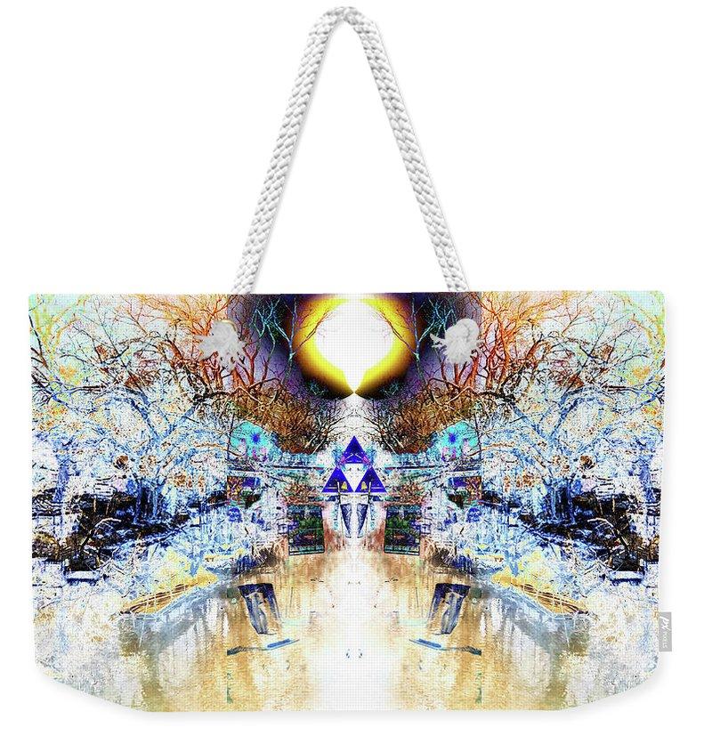 Triforce Weekender Tote Bag featuring the digital art Glow by Revantide Afterburner