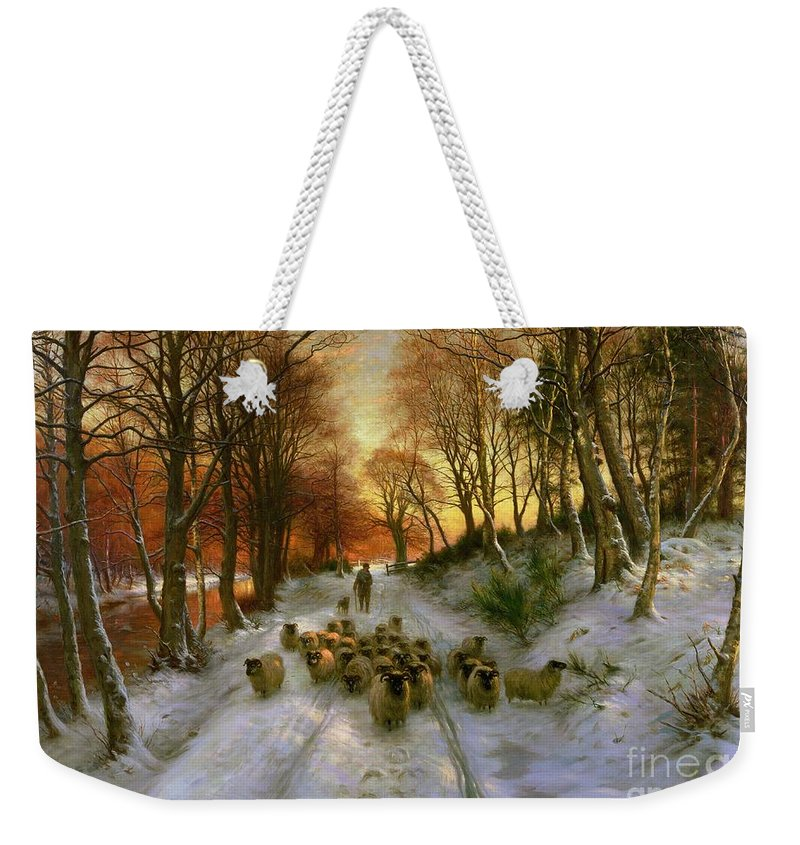 Glowed Weekender Tote Bag featuring the painting Glowed with Tints of Evening Hours by Joseph Farquharson