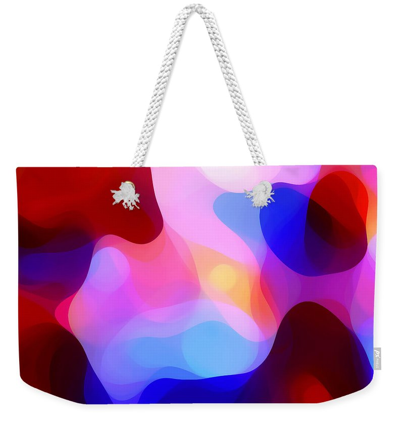 Abstract Painting Weekender Tote Bag featuring the painting Glowing Light by Amy Vangsgard