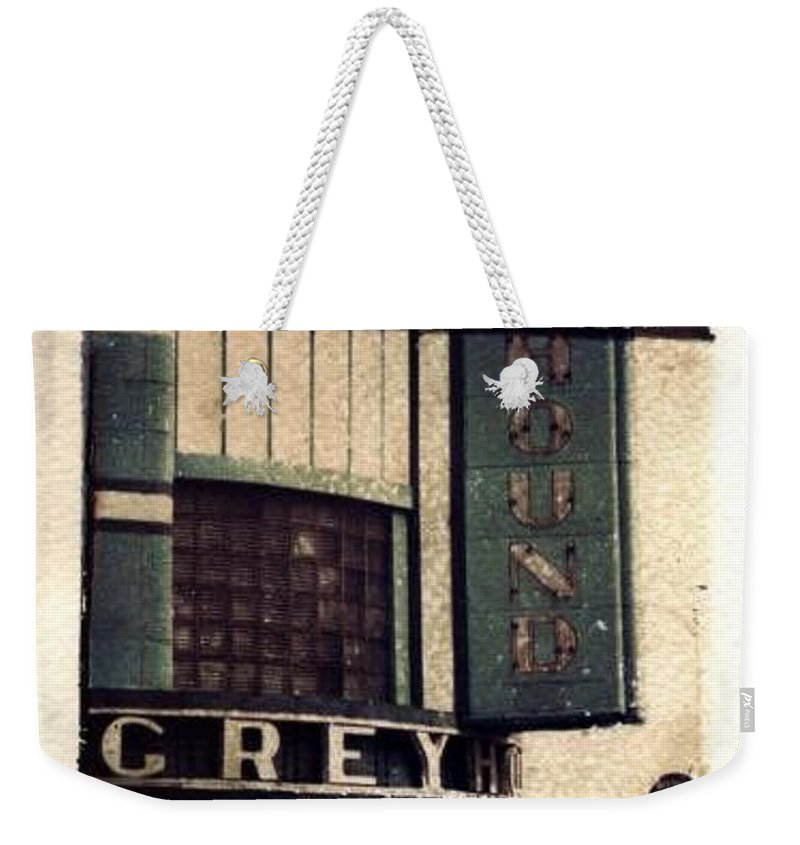Polaroid Transfer Weekender Tote Bag featuring the photograph Go Greyhound And Leave The Driving To Us by Jane Linders