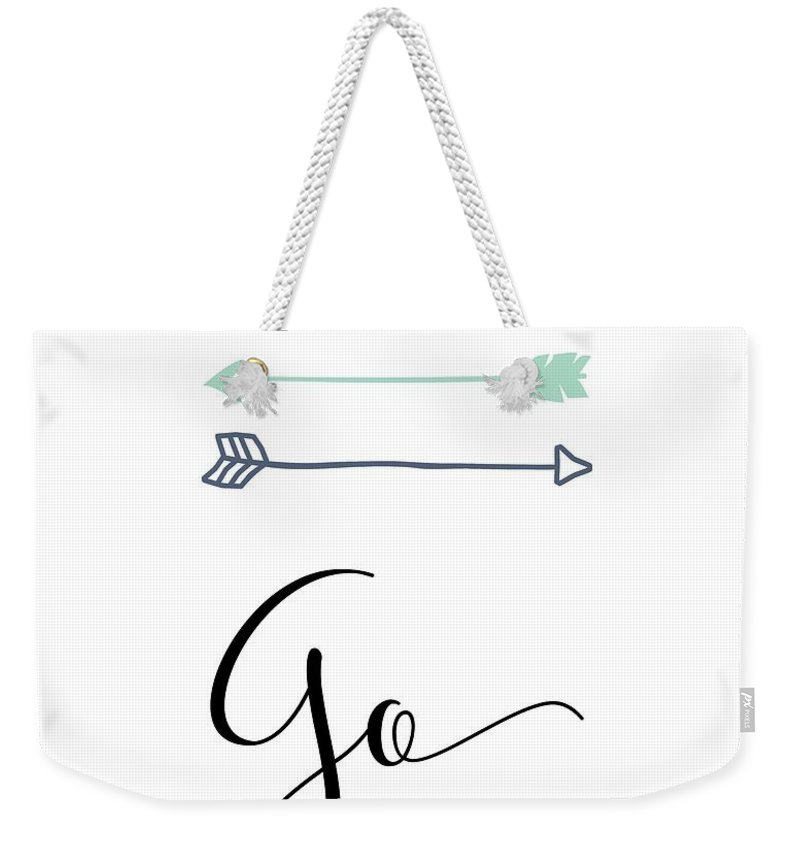 Go Weekender Tote Bag featuring the mixed media go by Nancy Ingersoll