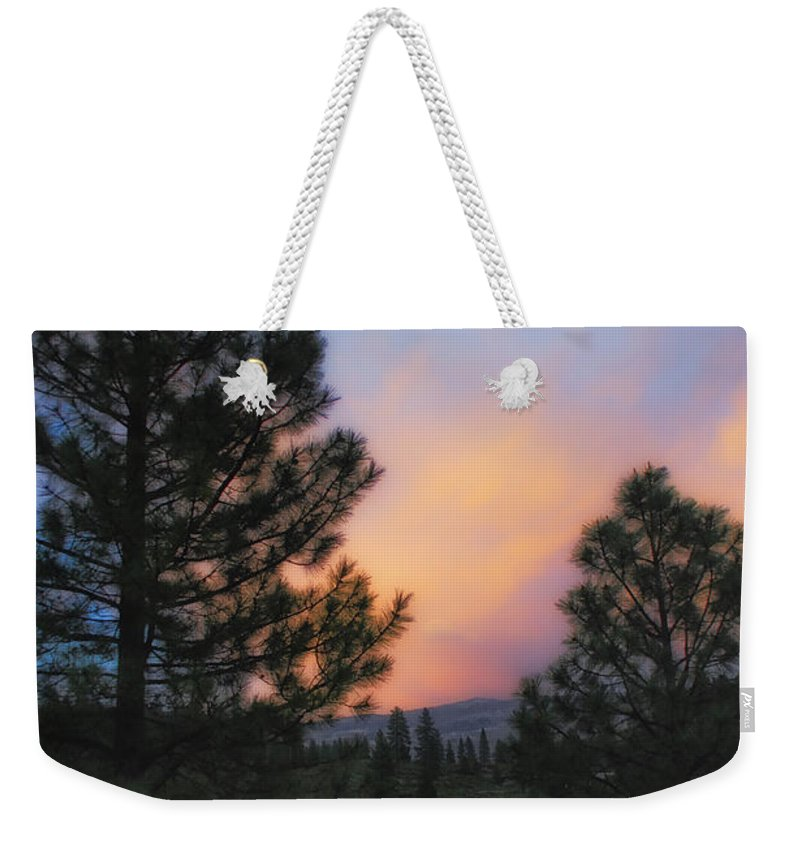 Landscape Weekender Tote Bag featuring the photograph Go Softly Into The Night by Donna Blackhall