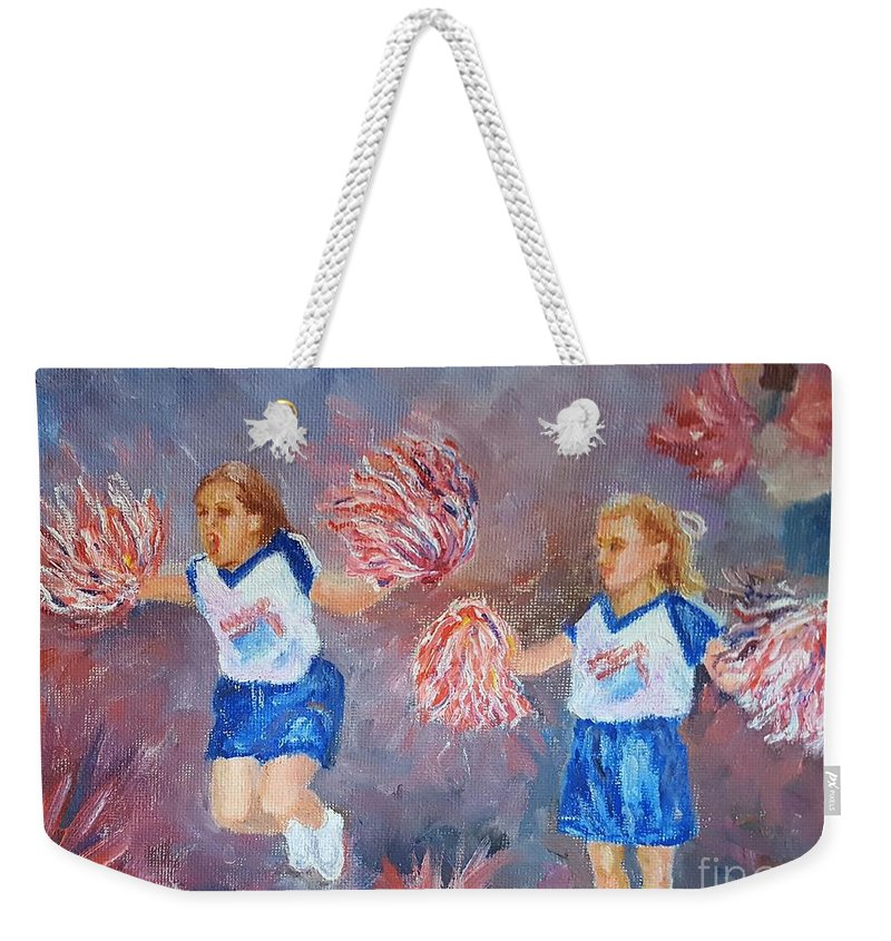 Go Weekender Tote Bag featuring the painting Go Team by Dorothy Weichenthal