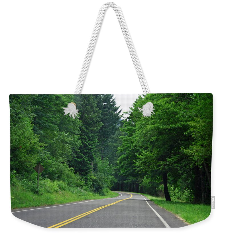 Road Weekender Tote Bag featuring the photograph Go Where It Takes Us by Ben Zell
