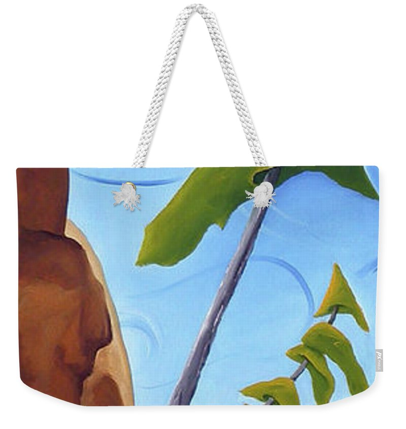 Landscape Weekender Tote Bag featuring the painting Goals by Richard Hoedl