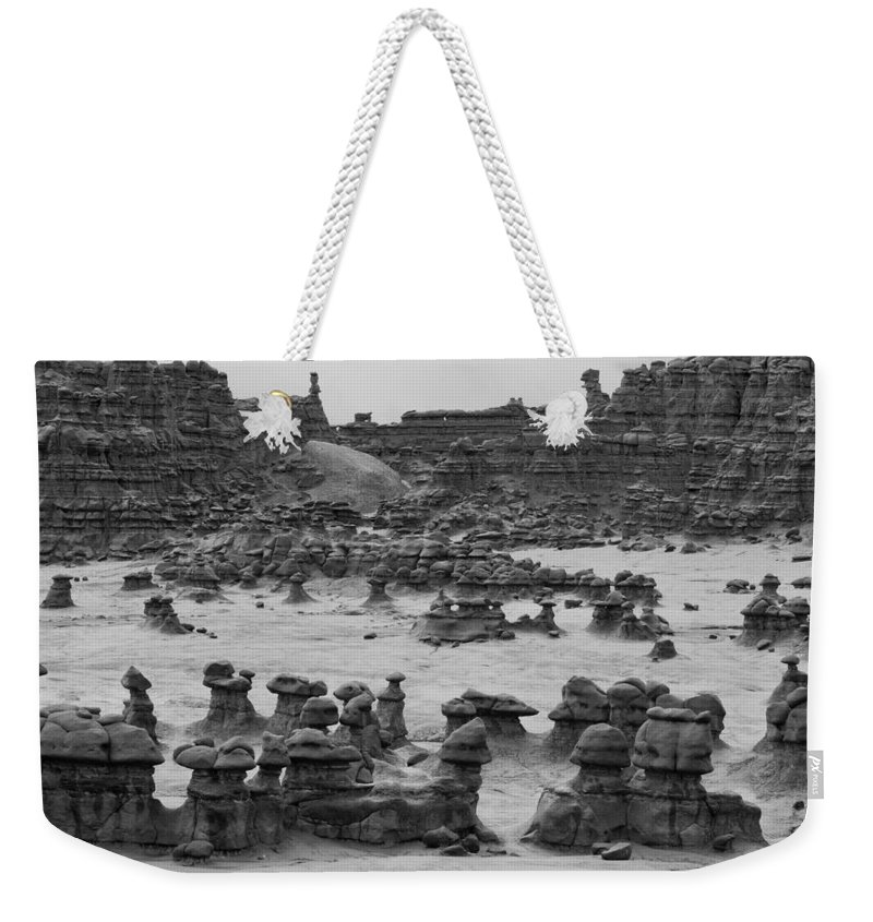 Goblin Weekender Tote Bag featuring the photograph Goblin Valley 0207 by Bob Neiman