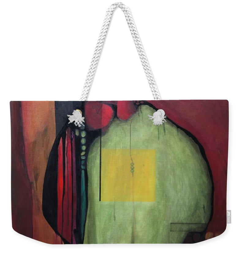 Abstract Weekender Tote Bag featuring the painting Gobs by Marlene Burns