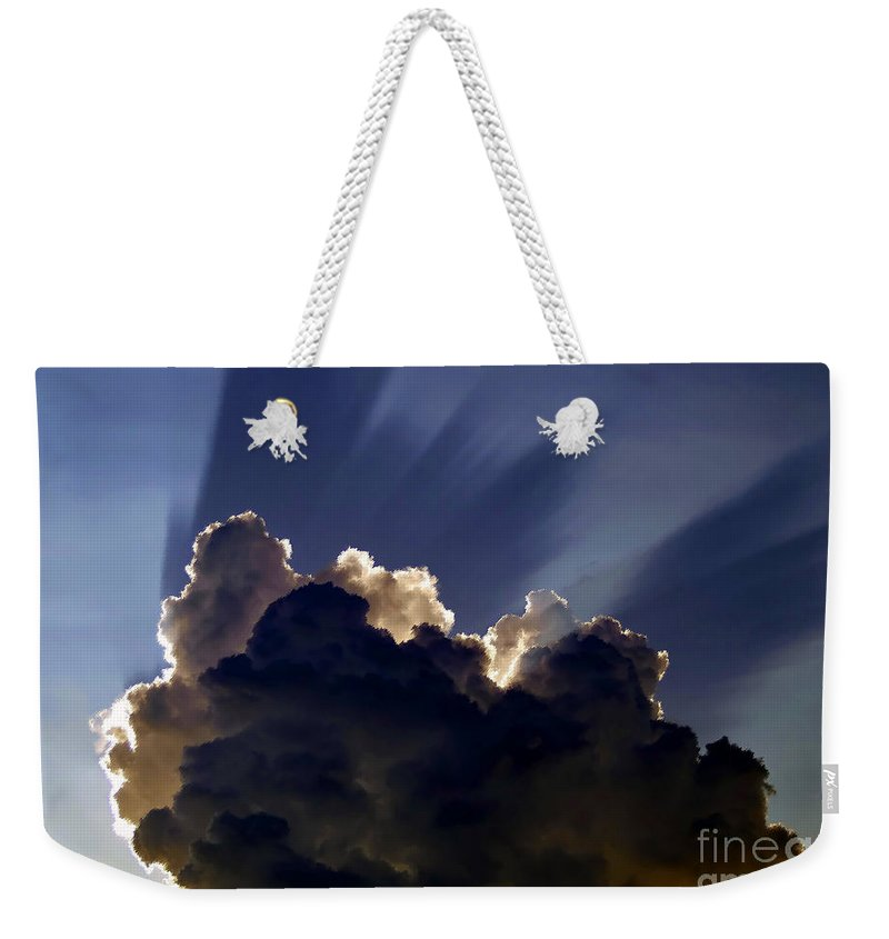God Weekender Tote Bag featuring the painting God Speaking by David Lee Thompson