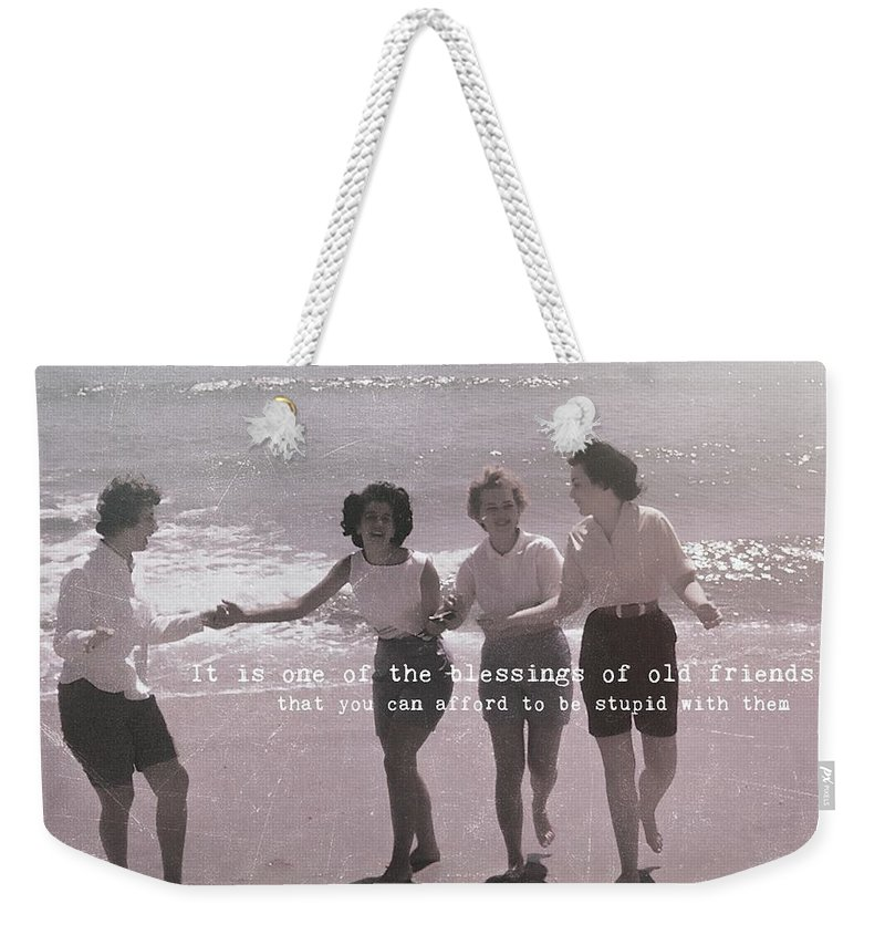 Beach Weekender Tote Bag featuring the photograph Goddess Gathering Quote by JAMART Photography