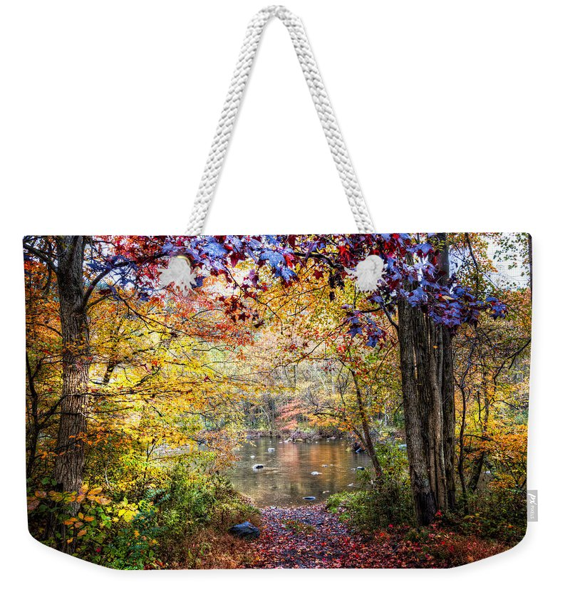 Appalachia Weekender Tote Bag featuring the photograph God's Paintbrush by Debra and Dave Vanderlaan