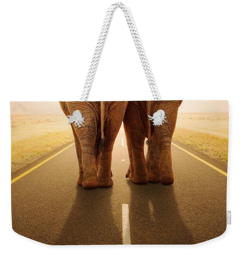 Leave Weekender Tote Bags
