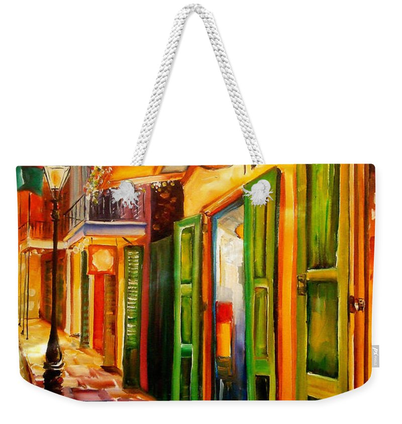 New Orleans Weekender Tote Bag featuring the painting Going Back To New Orleans by Diane Millsap