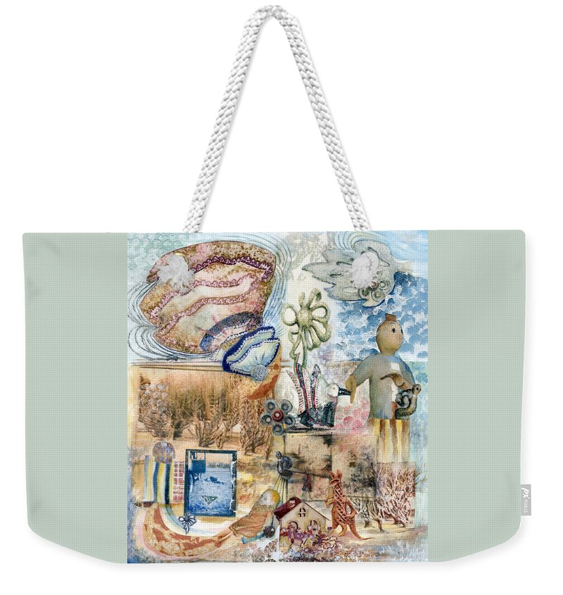 Fantasy Digital Art Weekender Tote Bag featuring the painting Going Down by Valerie Meotti