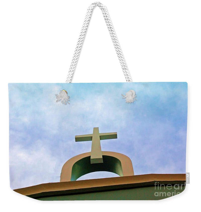 Cross Weekender Tote Bag featuring the photograph Going Up by Debbi Granruth