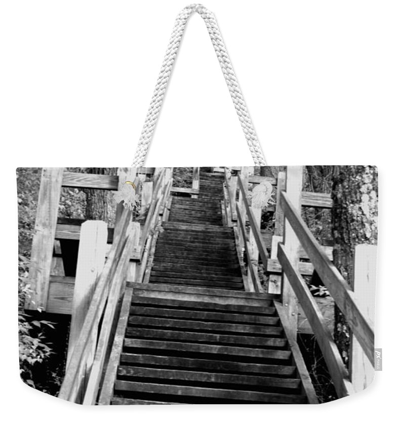 Stairs Weekender Tote Bag featuring the photograph Going Up by Jamie Lynn