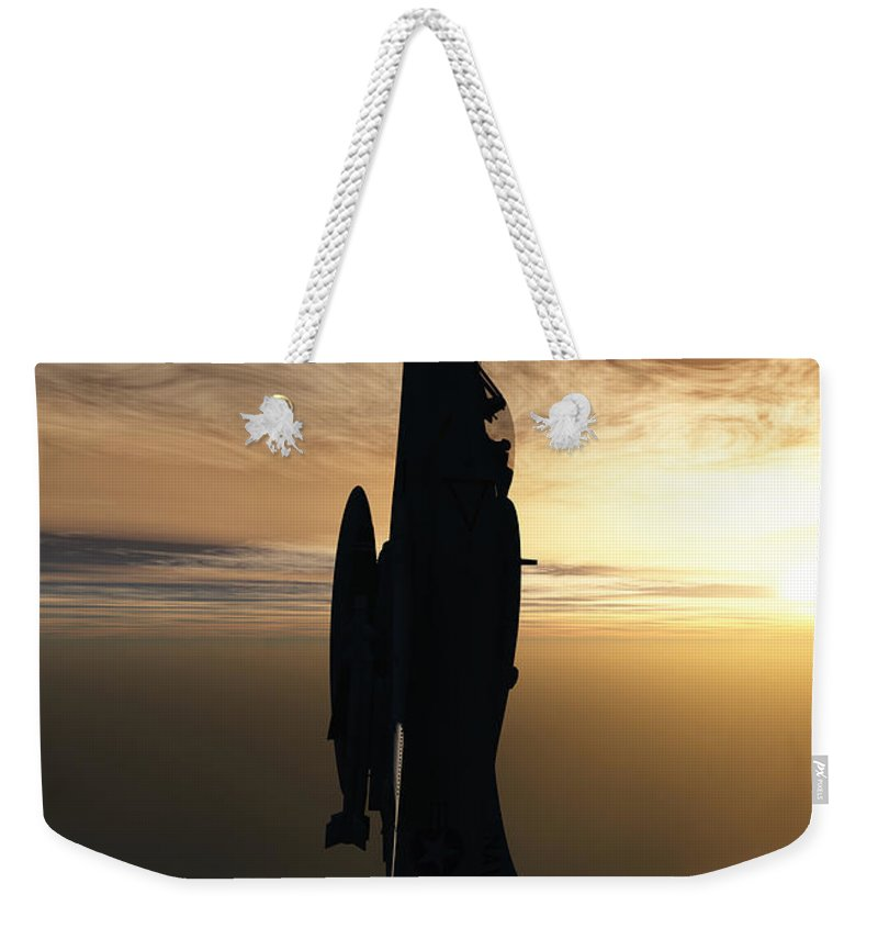Aviation Weekender Tote Bag featuring the digital art Going Vertical by Richard Rizzo