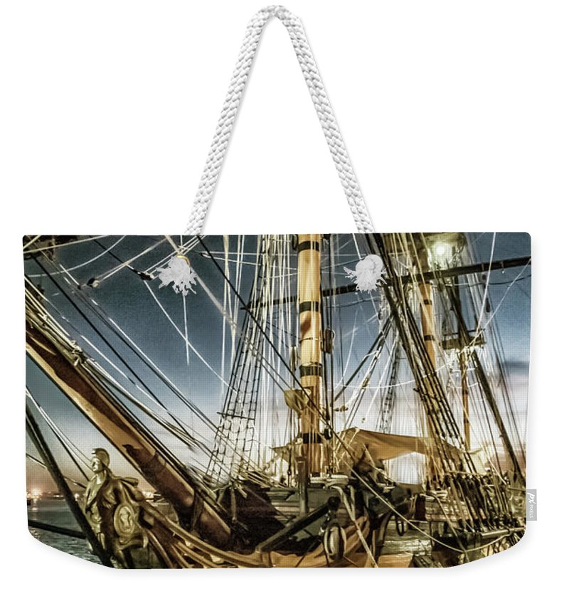 Ship Weekender Tote Bag featuring the photograph Gold Digger by Pamela Williams